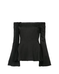 Top con hombros descubiertos negro de Derek Lam 10 Crosby