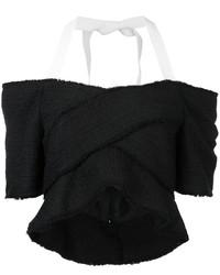 Top con hombros descubiertos negro de Proenza Schouler