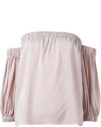 Top con hombros descubiertos rosado de Milly