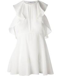 Top con sobrefalda blanco de Givenchy