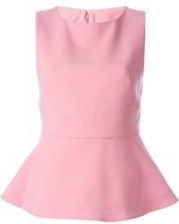 Top con sobrefalda rosado de Marni