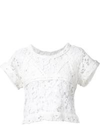 Top corto de crochet blanco de IRO