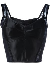 Top corto de encaje negro de Dolce & Gabbana