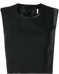 Top corto de lana negro de Comme des Garcons