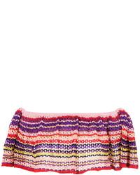 Top corto de punto en multicolor de Cecilia Prado