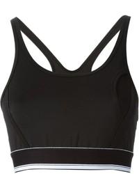 Top corto en negro y blanco de DKNY