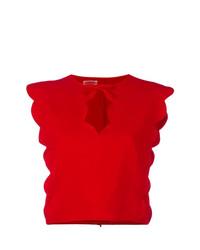 Top corto rojo de Giambattista Valli