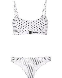 Top de bikini a lunares blanco de Lisa Marie Fernandez