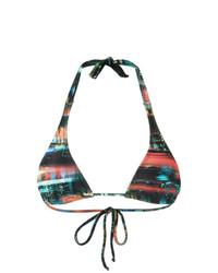 Top de bikini azul marino de Lygia & Nanny