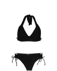 Top de bikini con adornos negro de Amir Slama