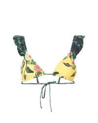 Top de bikini con print de flores amarillo de Patbo