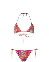 Top de Bikini de Flores Multicolor de Etro