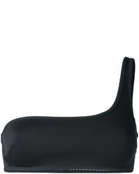 Top de bikini de malla negro de Stella McCartney