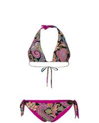 Top de bikini de paisley en multicolor de Etro