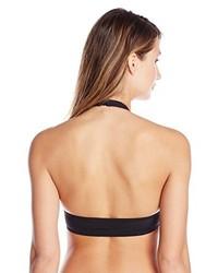 Top de bikini de rayas horizontales en negro y blanco de KAMALIKULTURE