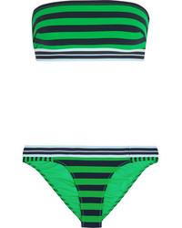 Top de bikini de rayas horizontales