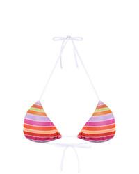 Top de bikini de rayas horizontales rosado de Cecilia Prado