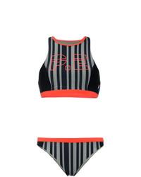 Top de bikini de rayas verticales negro de P.E Nation