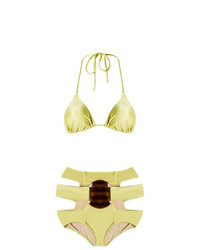 Top de bikini dorado de Adriana Degreas