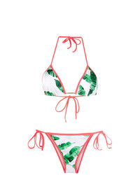 Top de bikini en blanco y verde de BRIGITTE