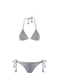 Top de bikini en negro y blanco de Amir Slama