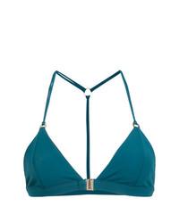 Top de bikini en verde azulado de Fella