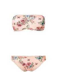 Top de bikini estampado rosado de Anjuna