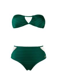 Top de bikini estampado verde de BRIGITTE