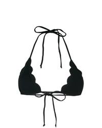 Top de bikini negro de Marysia