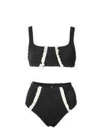 Top de bikini negro de Morgan Lane