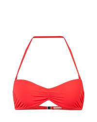 Top de bikini rojo