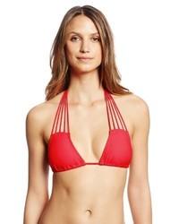 Top de bikini rojo de Luli Fama