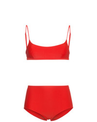 Top de bikini rojo de Matteau