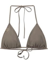 Top de bikini verde oliva de Anine Bing