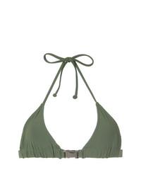 Top de bikini verde oliva de Gloria Coelho