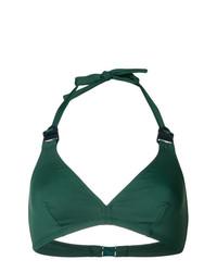 Top de bikini verde oscuro de Eres