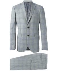 Traje de lana a cuadros gris de Etro