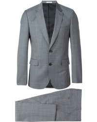 Traje de lana a cuadros gris de Paul Smith