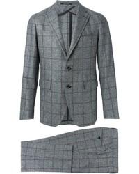 Traje de lana a cuadros gris de Tagliatore