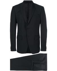 Traje de lana a cuadros negro de Givenchy