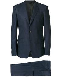 Traje de lana azul marino de Givenchy