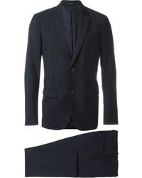 Traje de lana azul marino de Jil Sander