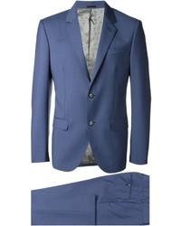 Traje de lana azul de Alexander McQueen