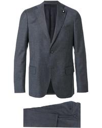 Traje de lana azul de Lardini