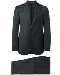 Traje de lana en gris oscuro de Armani Collezioni