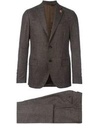 Traje de lana marrón de Lardini