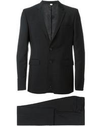 Traje de lana negro de Burberry