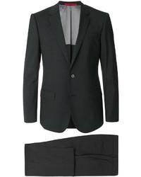 Traje de lana negro de Hugo Boss