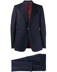 Traje de rayas verticales azul marino de Gucci