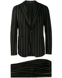 Traje de rayas verticales negro de Tagliatore